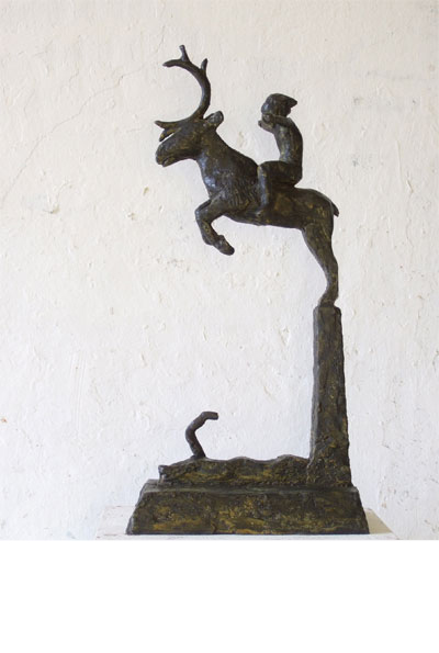 Peer Gynt on the reindeer